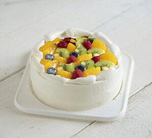 アレルギー対応・豆乳クリームのクリスマスフルーツショートケーキ15cm・お誕生日ケーキ15cm・【冷凍便】
