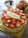 冷蔵便でお届け!苺の生ショートケーキ・デコ柄(ピンクの水玉)【4号・12cm】