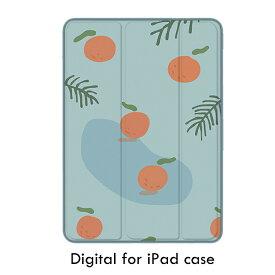 【3タイプ】薄型 軽量 耐衝撃 タブレットケース 面白い オレンジ柄 可愛い フルーツ  アイパッドケース Air3 mini5 ipadPro10.5 Pro12.9 Pro11 iPad2018 typec iPadPro9.7 2017 mini4 Air2 mini2 Air mini3 オートスリープ機能付き スタンド機能付