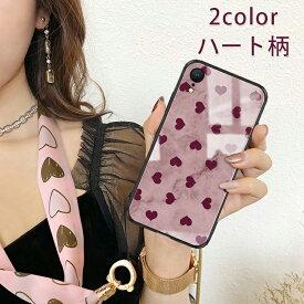 【動画あり】iphone 11 ケース iphone 11 Pro ケース iphone 11 Pro Max ケース iphoneケース スマホケース カバー ストラップ付き/耐衝撃/全面保護/ハート柄 韓国 スマホケース レオパード 大人可愛い 可愛い かわいい ピンク パープル