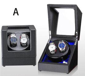 自動巻き上げ機 [自動巻き機] ワインディングマシーン 腕時計 時計 ウォッチワインダー ウォッチ ワインダー ワインダー 時計ケース 2本 自動巻 機械式 高級感 おしゃれ ピアノ鏡面仕上  木製 6タイプ レザー調 透明ケース 腕時計収納