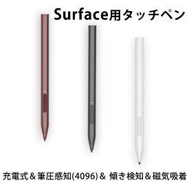 Surface Pro X用 タッチペン サーフェス対応 タッチペン 4096筆圧感知 消しゴム/右クリック機能 極細 超高精度 パームリジェクション機能 替芯付き Surface Pro 3/4/5/6/Surface Go/Surface Laptop/Book/Studio等に対応