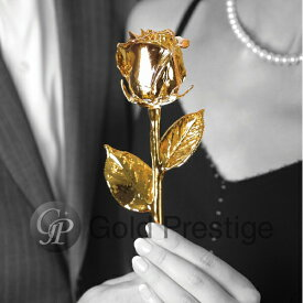 プリザーブドフラワー ギフト 敬老の日 プレゼント バラ 1輪 『ゴールドプレスティージ ゴールドローズ』 花 薔薇 ローズ 24金 プロポーズ 結婚祝い 開店祝い 結婚記念日 ブリザードフラワー 母の日 ギフト 贈り物 送料無料