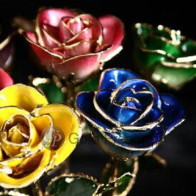 プリザーブドフラワー ギフト 敬老の日 プレゼント バラ 1輪 『ゴールドプレスティージ バリエーションローズ』 花 薔薇 ローズ 24金 プロポーズ 結婚祝い 開店祝い 結婚記念日 ブリザードフラワー 母の日 ギフト 贈り物 送料無料