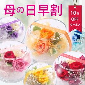 プリザーブドフラワー 誕生日 ギフト 『プチヴェールローズ』 結婚祝い ガラスドーム ブリザードフラワー プレゼント 贈り物 送料無料 【キャッシュレス5%還元】