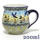 ポーランド陶器・食器 マグカップS 0.2L 幸せを運ぶツバメ マニュファクトゥラ社 K67-WK57 ポーリッシュポタリー ポ…