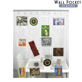 透明牆口袋 24 口袋存儲信資料夾乙烯牆口袋牆存儲 05P07Feb16