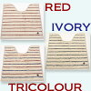 Marine toilet mat 60 x 60 cm (Red / ivory / tricolor / yellow blue / green) 10P30Nov14