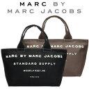 マークバイマークジェイコブス トートバッグ 【MARC BY MARC JACOBS Classic Standard Supply ファスナー付き コットン キャンバス おしゃれ かわいい ブランド