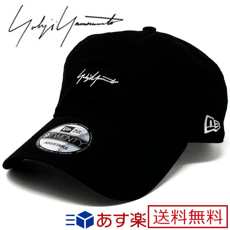ヨウジヤマモト ニューエラ 帽子 キャップ 9TWENTY ロゴ ブラック【Yohji Yamamoto New Era メンズ レディース ブランド おしゃれ かわいい 送料無料 正規品 新品 2018年 ギフト プレゼント】 [S] HW-H38-057