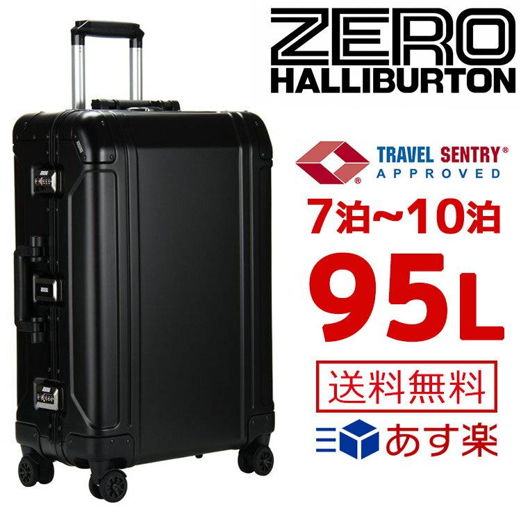ゼロハリバートン スーツケース ジオ 95L アルミニウム ブラック ZR-Geo 2 Series Trolley 30inch 94111-01 30インチ 4輪 TSA ロックシステム シンプル 大型【ZERO HALLIBURTON ブランド おしゃれ 送料無料 正規品 新品 2018年 ギフト プレゼント】