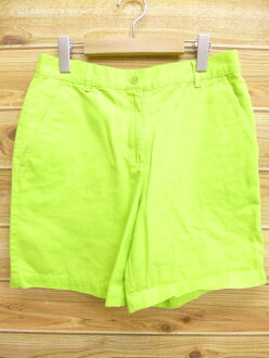 Old clothes Lady's short pants Ralph Lauren Ralph Lauren yellowish green system used bottoms shorts show bread half