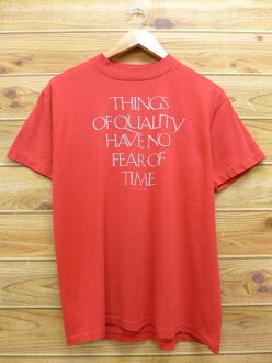 It is summer clothing summer clothes | in spring and summer made in the United States in the old clothes short sleeves vintage T-shirt 80s made in THINGS message red red large size men USA Vintage T シャツティーシャツティシャツカットソートップスメンズ T-shirt short sleeves T-shir
