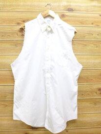 古着 ノースリーブ シャツ ブルックスブラザーズ BROOKS BROTHERS 白 ホワイト XLサイズ 中古 メンズ トップス