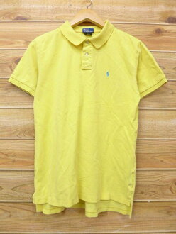 Old clothes short sleeves polo shirt Ralph Lauren Ralph Lauren logo yellow yellow used blouse tops