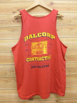 6dd298cf1a02af RUSHOUT  Old clothes vintage tank top DAL red red XL size used men ...