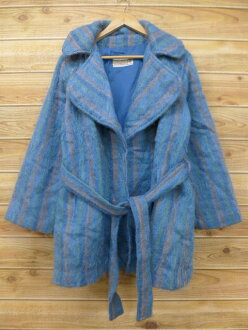 Autumn clothes winter clothing winter clothes | in the fall and winter an old clothes Lady's gown mohair wool blue others blues tripe outer for autumn I show cute casual lady's fashion fashion