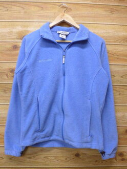 Old clothes Lady's fleece jacket Colombia COLUMBIA logo light blue used outer jacket blouson