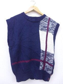 Old clothes knit best dark blue navy used tops