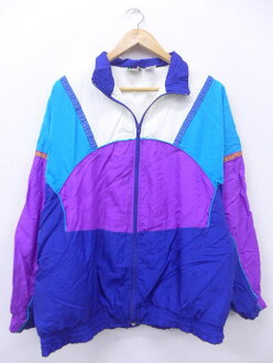 Old clothes Lady's nylon jacket dark blue other navies used outer windbreaker