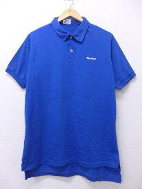 古着 ポロ シャツ マクレガー マックレガー McGREGOR 青 ブルー Lサイズ 中古 メンズ 半袖 トップス