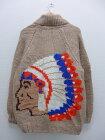 古着 長袖 ニット カーディガン カウチン セーター 60年代 インディアン ウール 大きいサイズ タロン ベージュ 【spe】 19sep12 中古 メンズ トップス