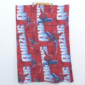 中古 生地 スパイダーマン 赤 レッド 中古アンティークビンテージ