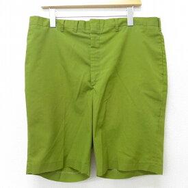 【中古】古着 ショートパンツ ショーツ 80年代 80s 緑 グリーン W37 中古 メンズ ボトムス 短パン ショーパン ハーフ | 春夏 春物 春服 夏物 夏服 半ズボン カジュアル メンズファッション ファッション おしゃれ