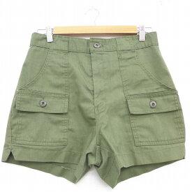 【中古】古着 ショート カーゴパンツ ショーツ メンズ 90年代 90s 緑 グリーン W30 中古 ボトムス 短パン ショーパン | 春夏 春物 春服 夏物 夏服 半ズボン カジュアル メンズファッション ファッション おしゃれ