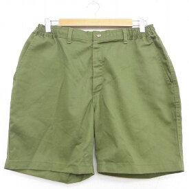 【中古】古着 ショート ボーイスカウトパンツ ショーツ メンズ 緑 グリーン W32 中古 ボトムス 短パン ショーパン   春夏 春物 春服 夏物 夏服 半ズボン カジュアル メンズファッション ファッション おしゃれ