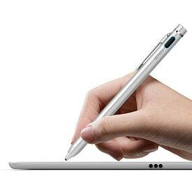 充電式電子スタイラスペン極細タッチペン iphone android ipad windowsタッチペン usb充電式 スタイラスペン 細い ペン先1.45mm クリップ付