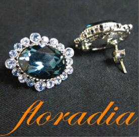 フローラディア floradia/オーバルビジュー・イヤリング/ピアス/【ポイント10倍】TVショッピングで大ヒット