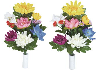 """Art"" and ""artificial"" light catalyst light paradise French flowers Chrysanthemum set 2 pieces"