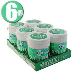 (6個)ロッテ キシリトールガム ライムミント ファミリーボトル 143g×6個 特定保健用食品 特保