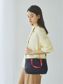 [Rakuten Fashion]カラーハンドルトートバッグ S/(CE-438) russet ラシット バッグ トートバッグ ブラウン ブラック グレー【送料無料】