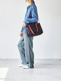 [Rakuten Fashion]カラーハンドルトート M/(CE-434) russet ラシット バッグ トートバッグ ブラウン ブラック グレー【送料無料】