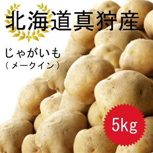 今年の10月収穫分予約受付ます!! 北海道 真狩産 じゃがいも メークイン 5kg Mサイズ〜2Lの混合 送料無料