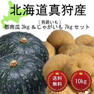 今年の10月収穫分予約受付ます!! 北海道 真狩産 じゃがいも(男爵いも)&みやこ南瓜セット 10kg 送料無料
