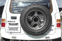 タニグチ製スペアタイヤ移動キット・表向き用(JB23)装着例