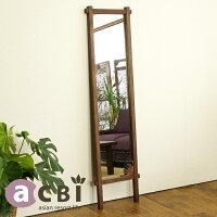 アジアン家具acbiチーク無垢木製スタンドミラーACM160KA