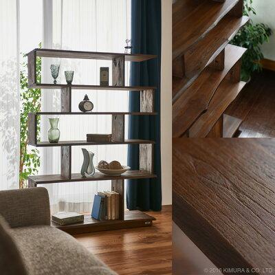 アジアン家具アクビィナチュラルテイストにもおすすめな木製収納棚です。