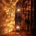 アジアンリゾートのバンブーネストスタンドライト 南国バリ島ホテルでくつろぐ様なお部屋を演出 ショップや雑貨店舗の…