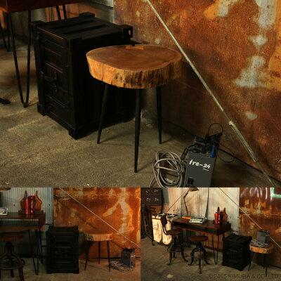 【KLUB14】ヴィンテージ調なアイアンと天然木の机