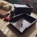 チーク材 無垢 木製 トレイ ファイルフォルダ 書類ケース レターケース 書類トレー ペーパートレイ アジアン 雑貨 チ…