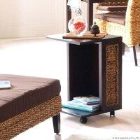 アジアン家具バナナリーフサイドテーブルワゴンT014AT