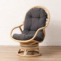 ラタンリラックス回転チェアハイバック回転座椅子肘付きで立ち座りしやすい籐製いす幅ゆったり創業100年籐家具専門メーカーの技術敬老の日祖父祖母父母プレゼントBREEZEC290NDM