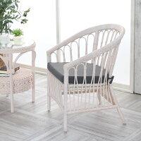 パーソナルチェア籐製ラタンチェア肘掛け椅子イスホワイトラタンクッション北欧ナチュラルかわいいおしゃれ敬老の日父の日母の日祖父祖母プレゼントおすすめ創業100年籐家具専門メーカーC836WWM