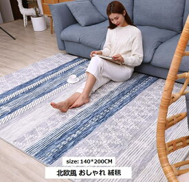 北欧風 リビング 絨毯 size140*200CM ふんわり柔らか 厚手 滑り止め付 サラふわ カーペット おしゃれ じゅうたん シャギーラグ 洗える ラグマット カーペット・ラグ 送料無料 5COLOR