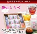 梅のしらべ ★紀州の梅のフルコース!梅酒2種とはちみつ入り超大粒梅干しの詰め合わせ