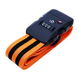 ミヨシ ジャストフィットスーツケースベルト ブラックオレンジ ASNMBZ-SBL02/BO|雑貨・ホビー・インテリア 雑貨 雑貨品